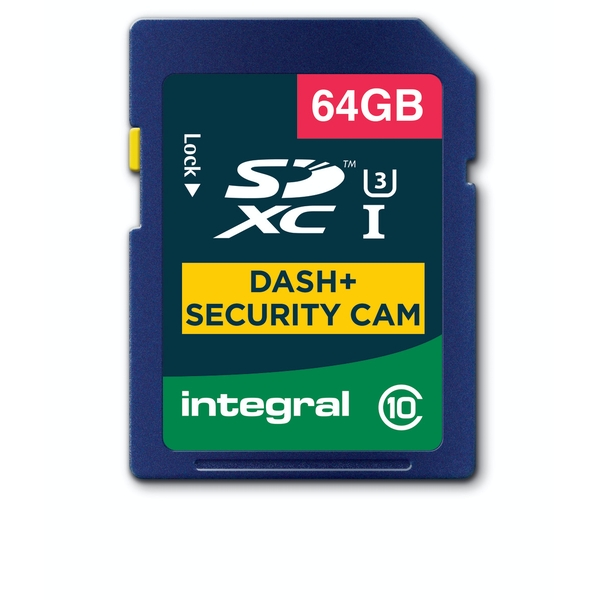 Integral 64GB SD Card SDXC Cl10 U3 R-95 W-60 Mb/S Dash & Security Cam
