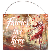 Autumn Fairy Metal Sign