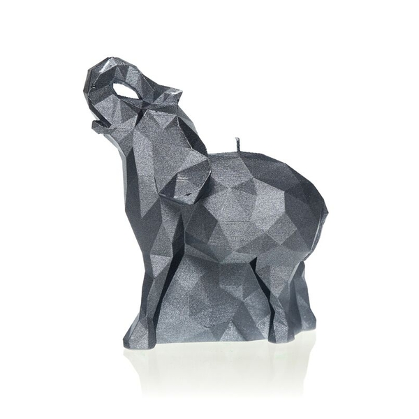 Steel Medium Elephant Candle