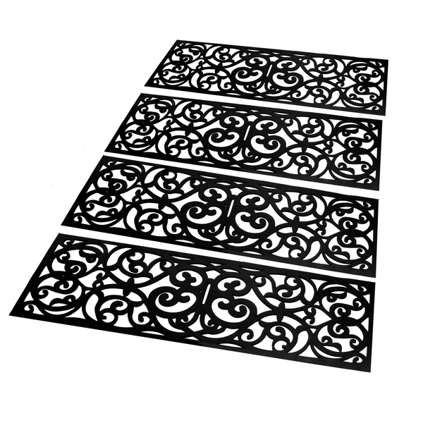 Set of 4 Rubber Stair Treads | M&W