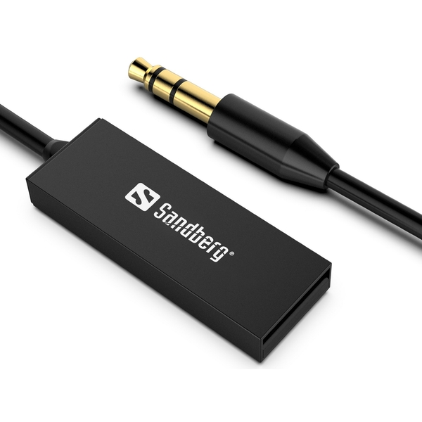 Sandberg Bluetooth 5.0 Audio Link through 3.5 mm Jack, USB Powered, 5 Year Warranty