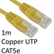 RJ45 (M) to RJ45 (M) CAT5e 1m Yellow OEM Moulded Boot Copper UTP Network Cable - Image 2
