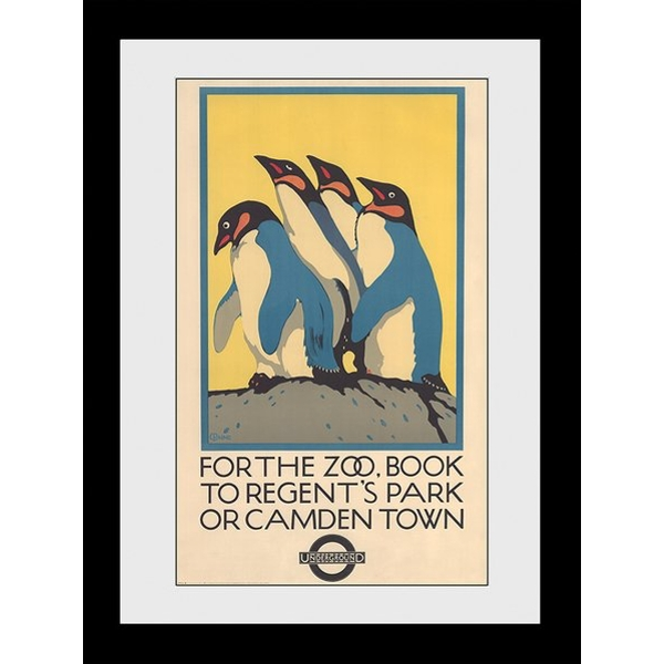 Transport For London Zoo 60 x 80 Framed Collector Print