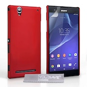 YouSave Sony Xperia T2 Ultra Hybrid Case - Red