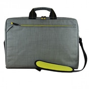 Tech air EVO 15.6 Inch Notebook Messenger Bag with Removable Pockets (Grey & Lime)