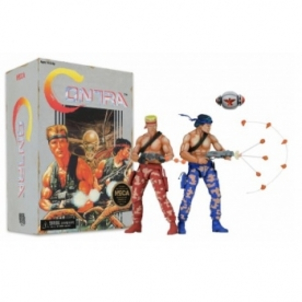 Contra 7 Inch Scale Action Figure Bill and Lance 2 Pack Video Game Appearance
