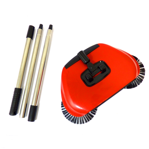 Automatic Spin Sweeper 3 in 1 Floor Sweeping Brush Broom, Duster & Dustpan M&W - Image 4