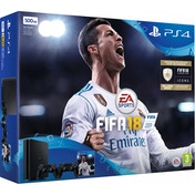 PlayStation 4 (500GB) Black Console FIFA 18 Bundle + Extra Dualshock Controller