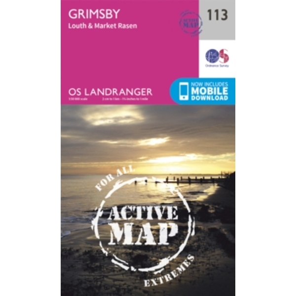 Grimsby, Louth & Market Rasen by Ordnance Survey (Sheet map, folded, 2016)