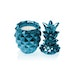 Blue Metallic Concrete Pineapple For Her Candle - Image 2