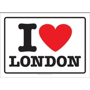 I Love London Postcard