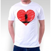 Couples in Love T-Shirt Large White