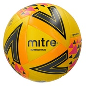 Mitre Ultimatch Plus Match Ball Yellow Size 4