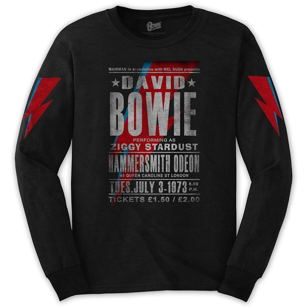 David Bowie - Hammersmith Odeon Unisex Small T-Shirt - Black