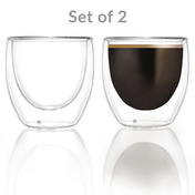 Double walled glasses 80ml