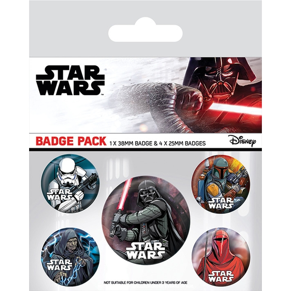 Star Wars - Dark Side Badge Pack - Image 1