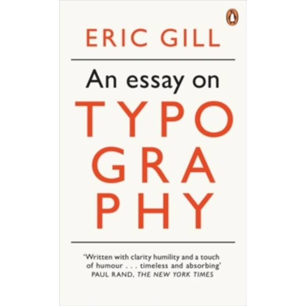 An Essay on Typography by Eric Gill (Paperback, 2013)