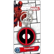 Official Marvel Comics Deadpool Logo Coloured Pewter Keyring