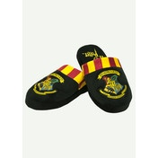 Hogwarts Harry Potter Hogwarts Mule Slippers Black Burgundy Yellow Mens Large UK Size 8-10