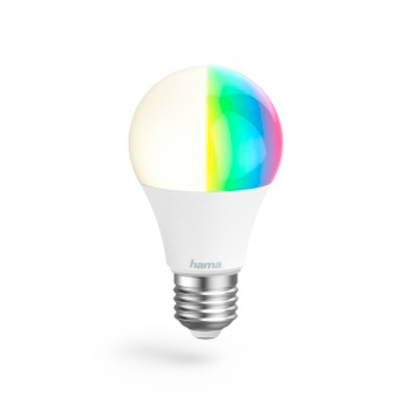 Hama Smart Home LED Multicolored/White Light | Alexa | 10W, E27, 10 W, Multi-Colour