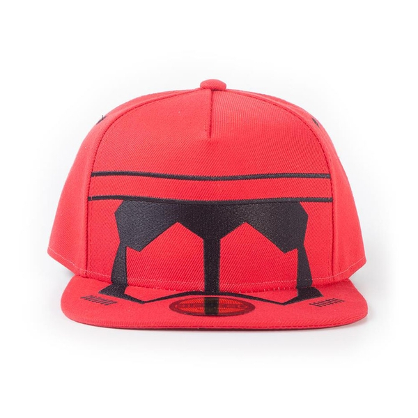 Star Wars - Red Trooper Mask Unisex Snapback Baseball Cap - Red