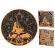 Thai Buddha Shaped Wall Clock