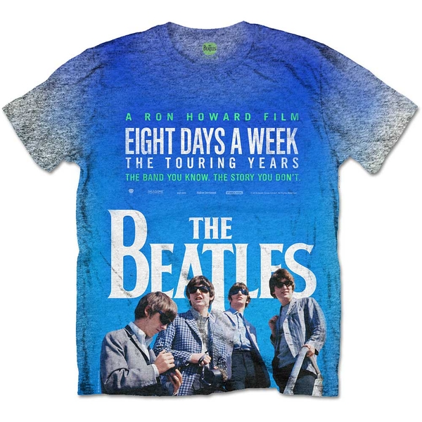 The Beatles - 8 Days a Week Movie Poster Unisex X-Large T-Shirt - Sublimated,Grey