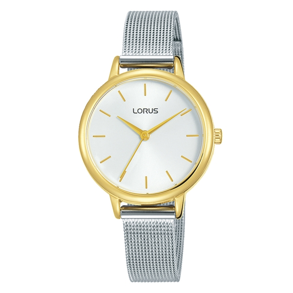 Lorus RG250NX9 Ladies Two Tone Dress Mesh Bracelet Watch