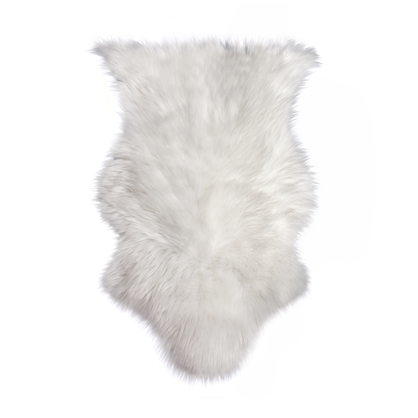 Faux White Sheepskin Rug | M&W