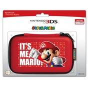Hori Officially Licensed Mario Hard Pouch Red 3DS