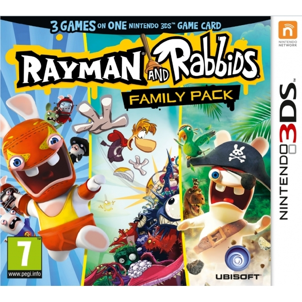 Rayman and Rabbids Family Pack Collection 3DS Game