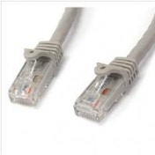 StarTech.com Grey Gigabit Snagless RJ45 UTP Cat6 Patch Cable Patch Cord (1m)