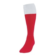 Precision Red/White Turnover Football Socks UK Size Junior 12-2