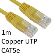 RJ45 (M) to RJ45 (M) CAT5e 1m Yellow OEM Moulded Boot Copper UTP Network Cable