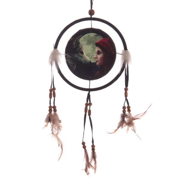Fantasy Wolf and Women Dreamcatcher Small