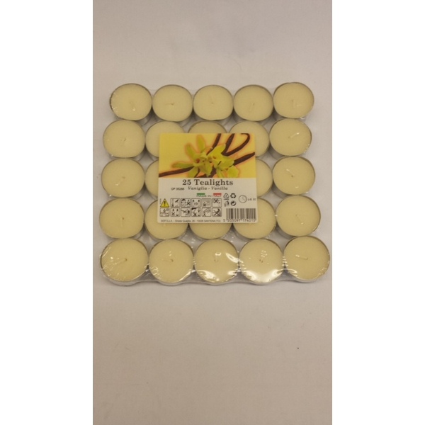 Price's Candles Tealights Pack 25 Vanilla