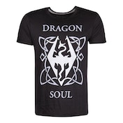 The Elder Scrolls Skyrim - Dragon Soul Men's X-Large T-Shirt - Black