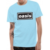 Oasis - Logo Front Print Only  Men's XX-large T-Shrit - Blue