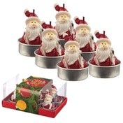 Santa Christmas Set of 6 Tea Light Candle