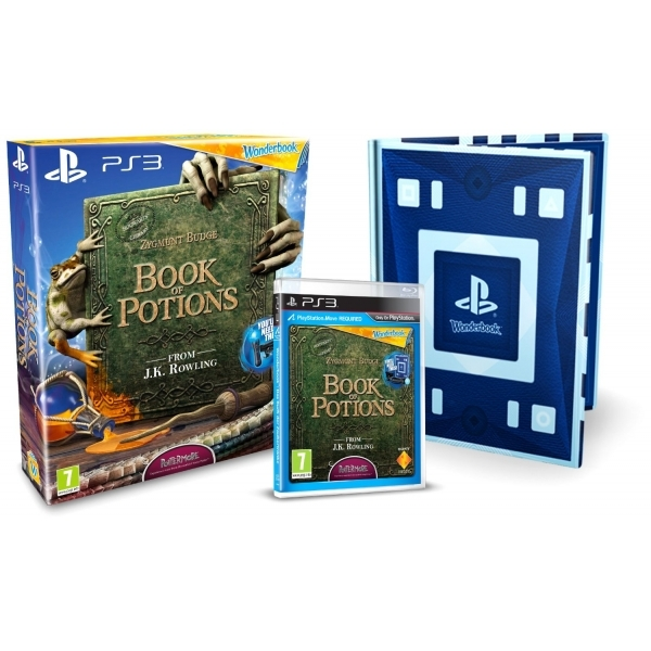 Wonderbook Book Of Potions Game and Book PS3 Game