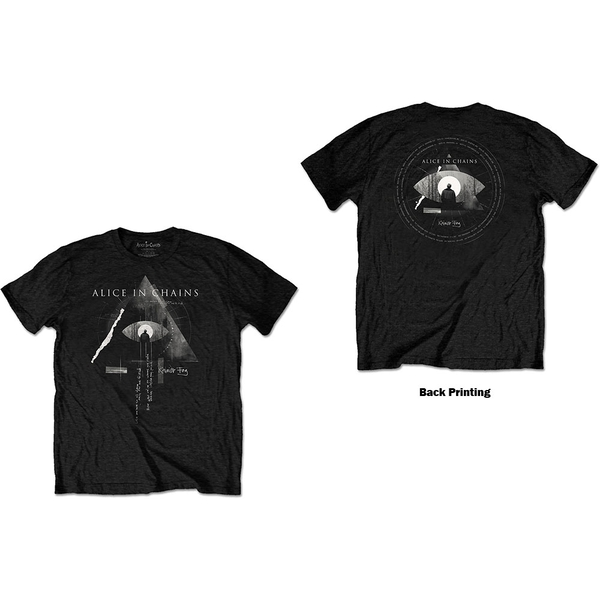 Alice In Chains - Fog Mountain Unisex Large T-Shirt - Black