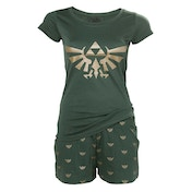 Nintendo Legend of Zelda Hyrule Royal Crest Shortama Medium Nightwear Set