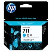 HP CZ134A (711) Ink cartridge cyan, 29ml, Pack qty 3