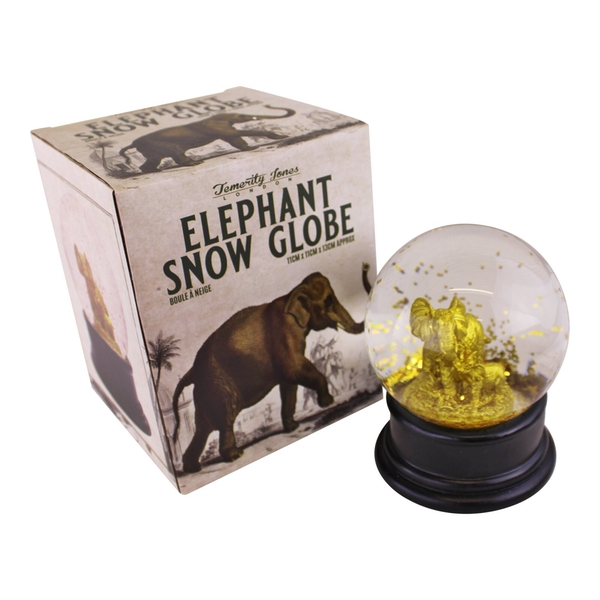 Golden Elephant Snow Globe