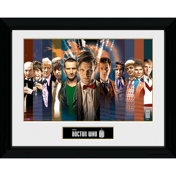 Doctor Who 11 Doctors Framed Photographic Print