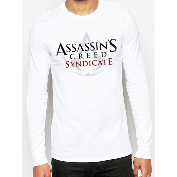 Assassin's Creed Syndicate Logo White Longsleeved T-Shirt Small