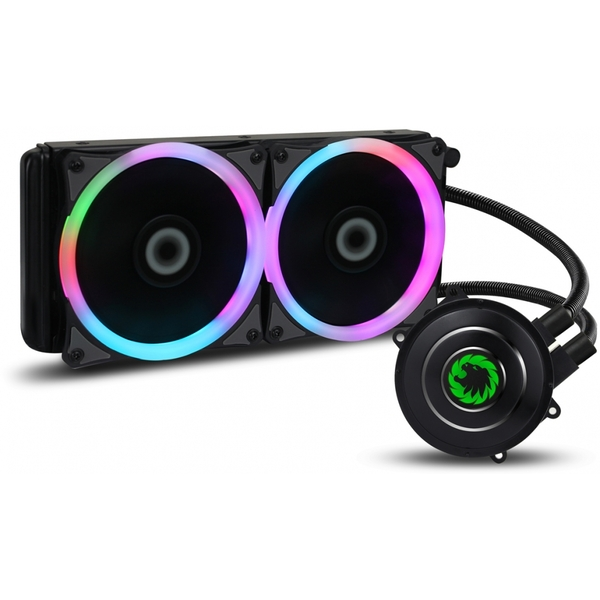 Game Max Iceberg 240mm Water Cooling System with 7 Colour PWM Fans