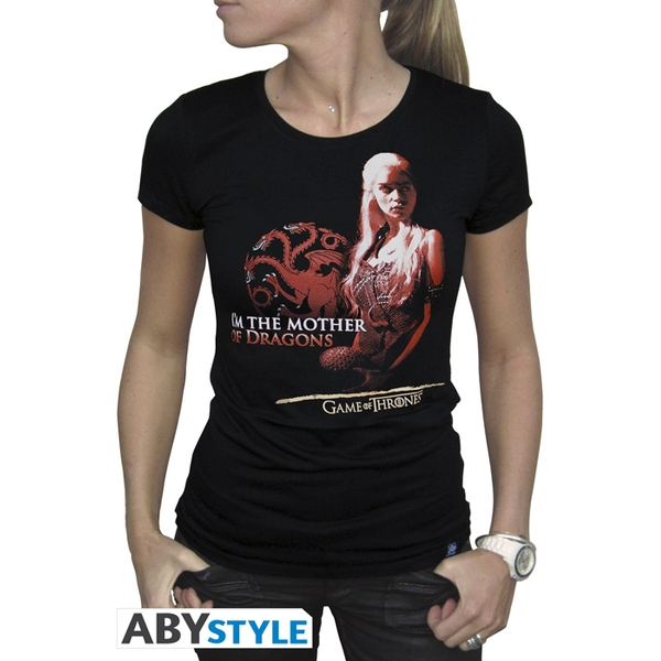 Game Of Thrones - Mother Of Dragons Women's Large T-Shirt - Black