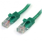 Cat5e patch cable with snagless RJ45 connectors   1m  green