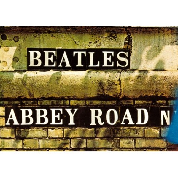 The Beatles - Abbey Road Sign Postcard